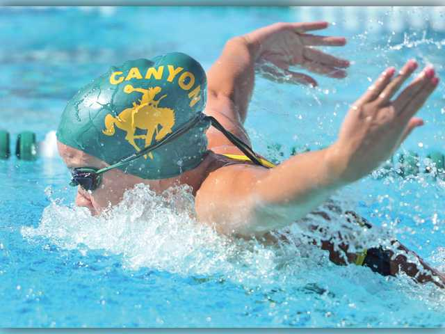 Canyon, G.V. find positives in swim meet