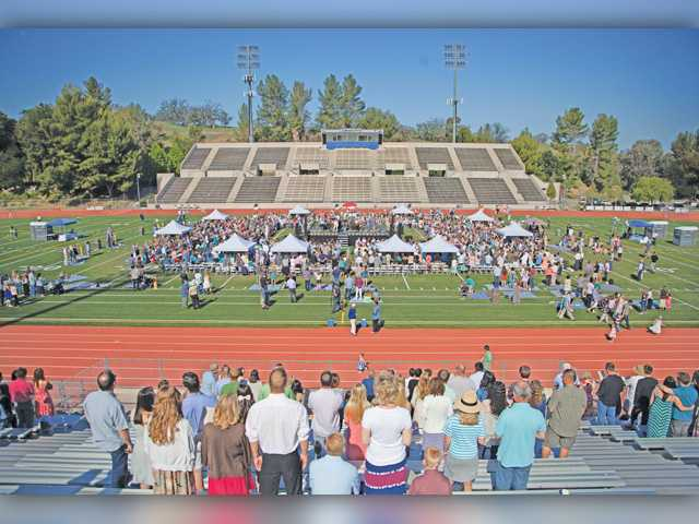 Local congregation hosts service at Cougar Stadium