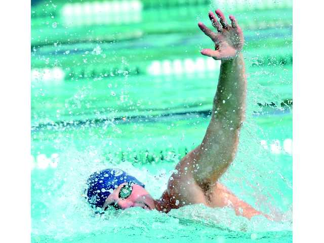 Saugus swim rides depth to sweep of Canyon