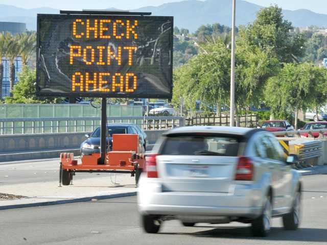 Drivers cited at checkpoint in Newhall