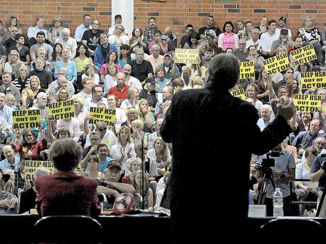 SCV residents give loud and clear message against high-speed rail