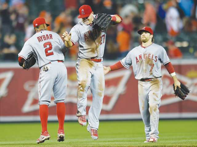 Shoemaker, Angels ground Orioles for 5th straight win