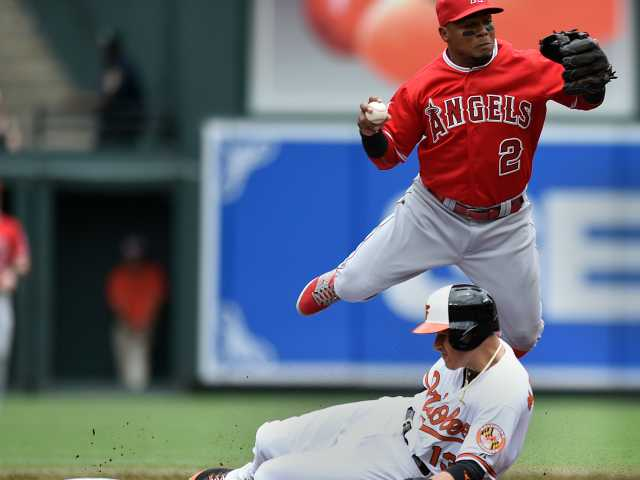 Angels' winning streak ends with 3-0 loss to Orioles