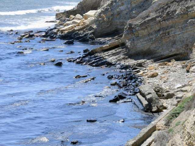 Cleanup underway of oil spill off Santa Barbara coast