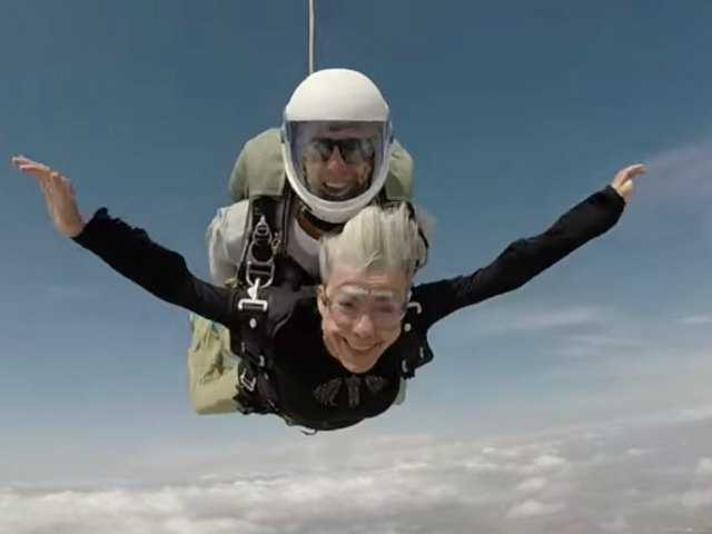 Skydiving grandmas