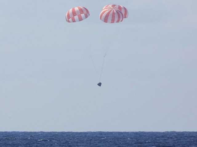 Back home on Earth: SpaceX cargo craft leaves space station