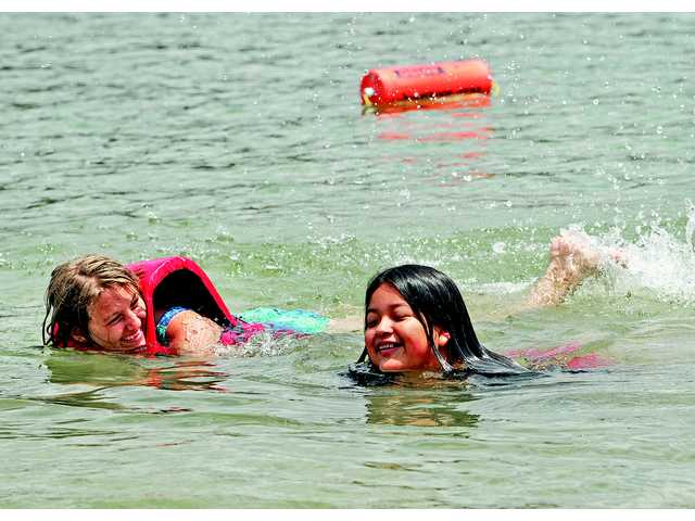 Castaic Lake opens for swimmers