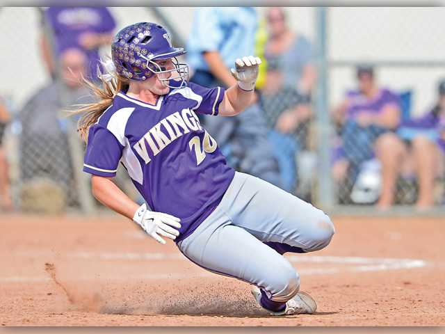 Vikings softball stopped in second round