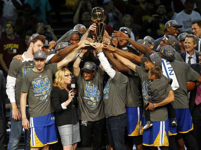 Warriors knock off Cavs to win NBA title