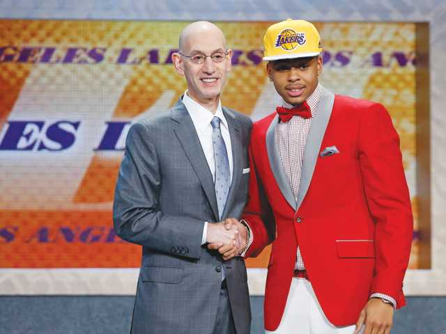 LA Lakers pick D'Angelo Russell 2nd overall in NBA draft