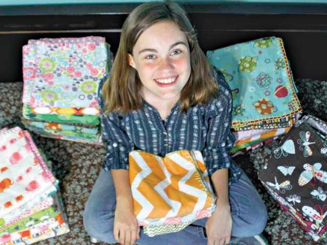 Placerita student sews 40 blankets for NICU infants