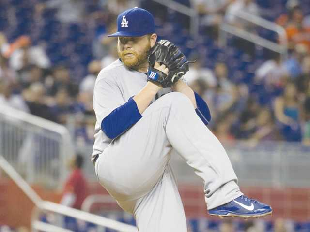 Brett Anderson pitches Dodgers past slumping Marlins
