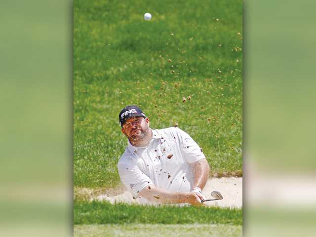 Jason Gore in the thick of it at Travelers Championship