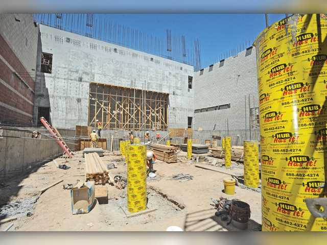 Long-awaited Canyon High School performing arts center taking shape