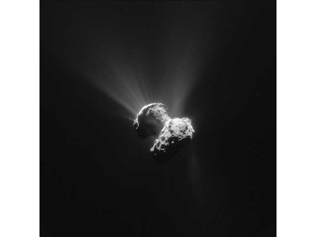 Sinkholes on comet's surface produce dust jets, study says