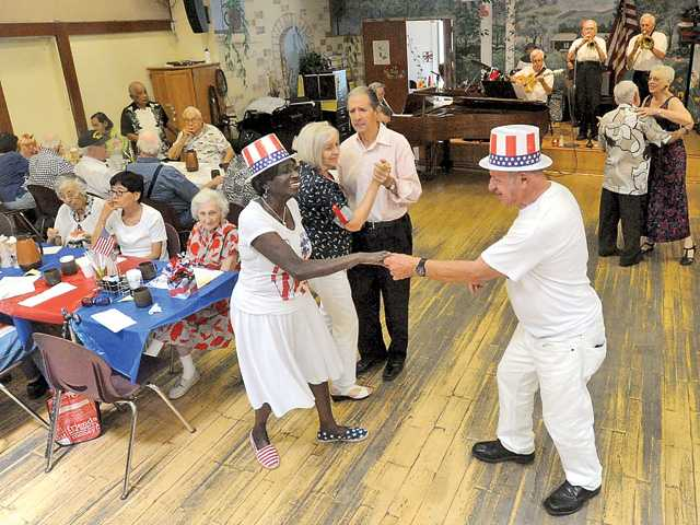 Seniors turn out for Fourth of July barbecue