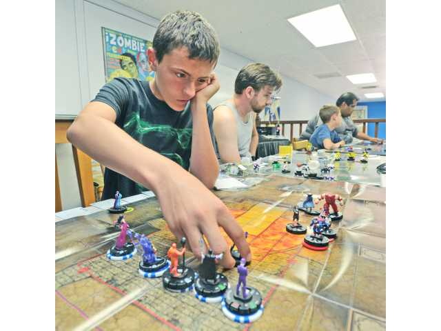 Gamers compete in HeroClix tournament in Newhall