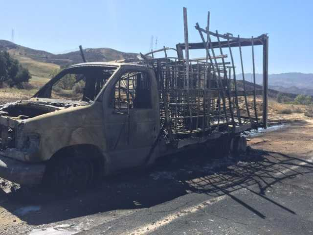 Vehicle fire doused near Chiquita Canyon Landfill