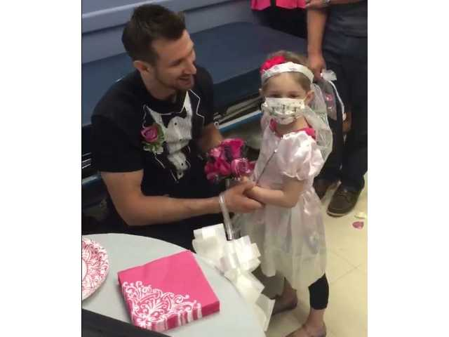 Nurse 'marries' 4-year-old cancer patient in sweet hospital ceremony