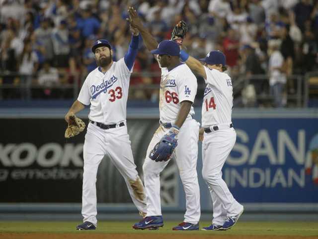 Greinke, Dodgers beat Angels with Guerrero's go-ahead HR