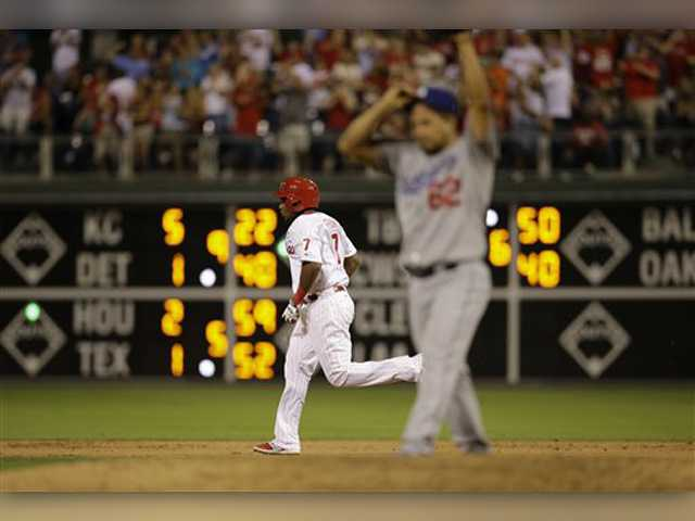 Franco's slam lifts Phillies over Dodgers