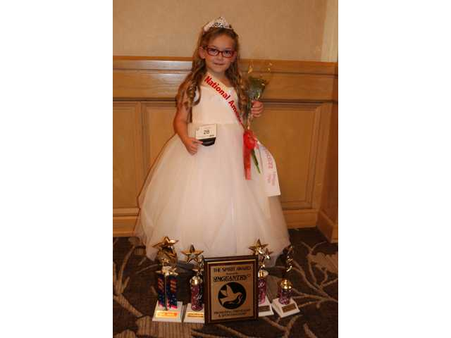 National American Miss state competition finalist