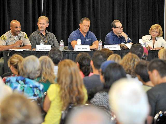 Hundreds turn out for discussion of teenage pot use