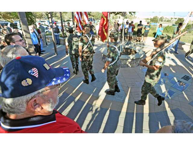 Community honors fallen soldiers Saturday at new veteran memorial in SCV