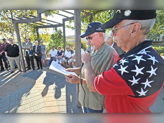Community honors fallen soldiers Saturday at new veteran memorial in SCV