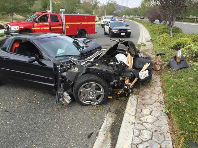 UPDATE: Seven injured in crash on Golden Valley Road