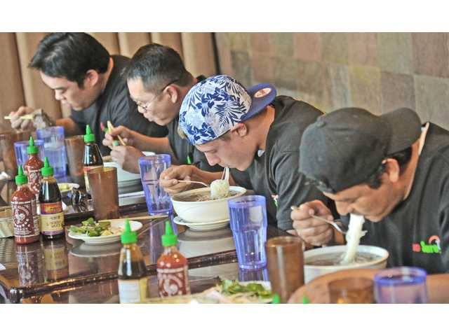 Competitive eaters chow down Saturday in Valencia