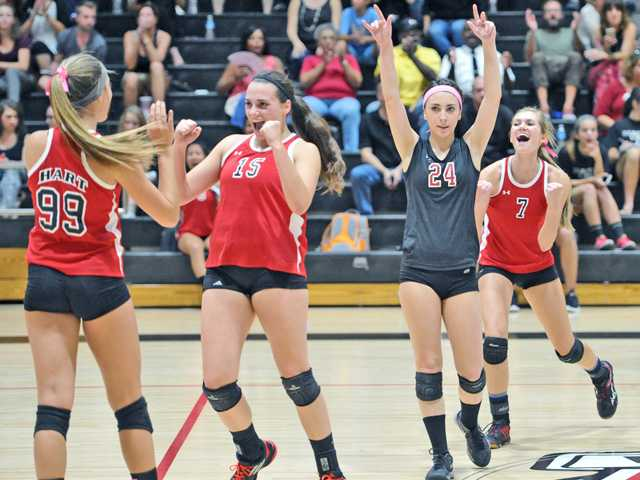 Prep V-Ball roundup: Hart clears another big hurdle