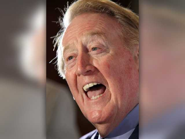 Broadcaster Vin Scully to miss postseason after procedure