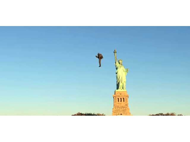 Have You Seen This? Classic jet pack over New York