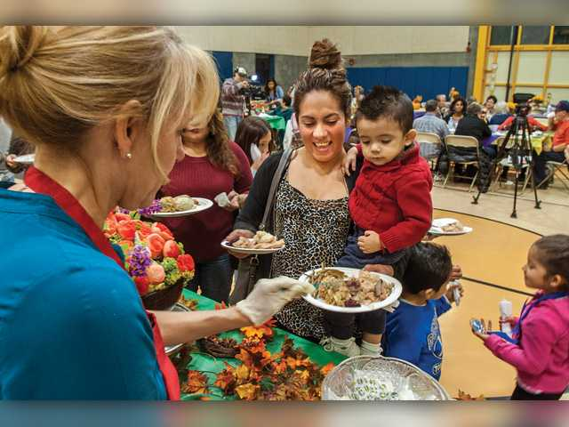 Early Thanksgiving celebrated at Newhall Community Center