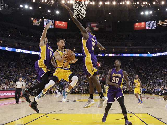 Lakers get rolled by Warriors