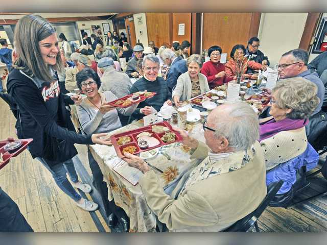 UPDATE: Seniors enjoy Thanksgiving meal Thursday in Newhall