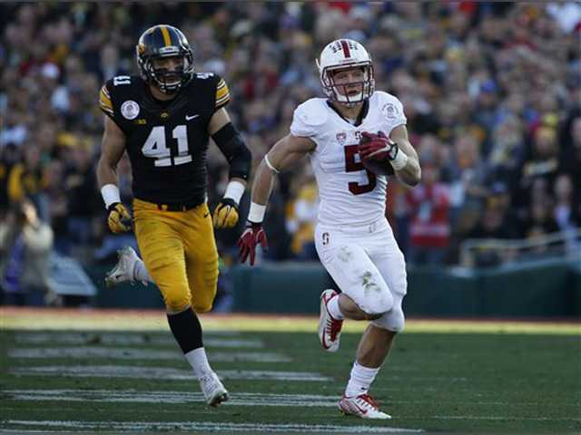 Stanford blows by Iowa in Rose Bowl