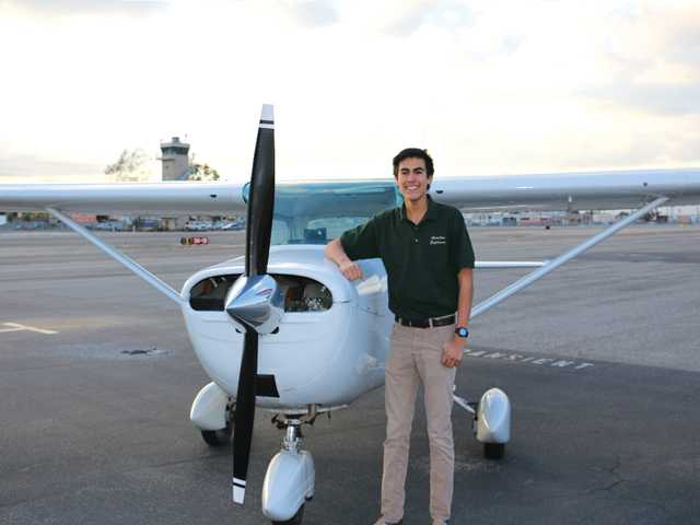 • Moises Robles on the airfield. Courtesy photo