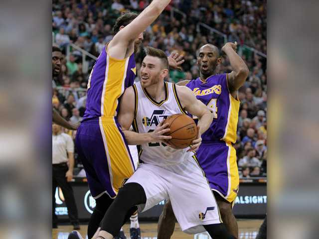 Jazz defeat Lakers with help of Gobert's double-double