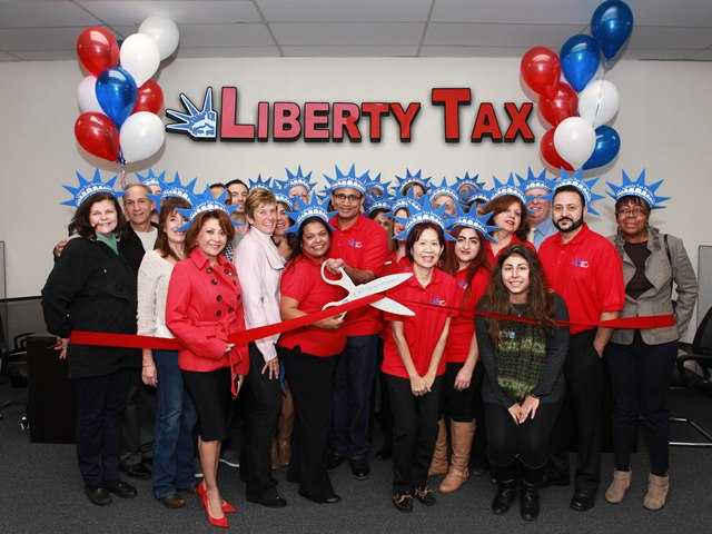 Liberty Tax Service cuts ribbon in Newhall