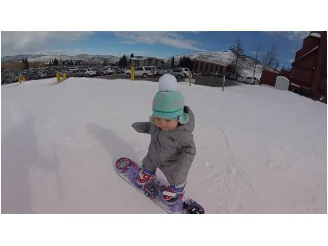 Have You Seen This? Toddler is adorable snowboarder