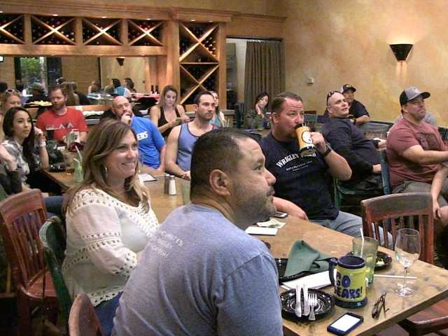 SCV Super Bowl fans cheer for fun with friends