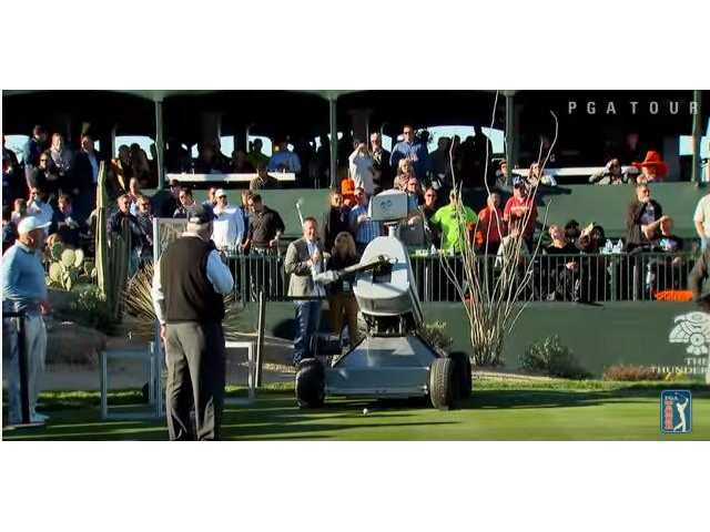 Have You Seen This? Robot hole-in-one
