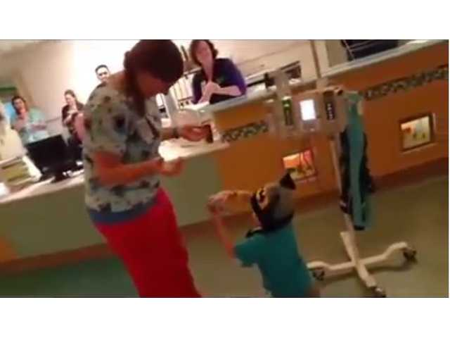 Boy with leukemia proposes to his favorite nurse, 'tall Sarah'