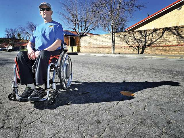 Castaic man fights for new streets