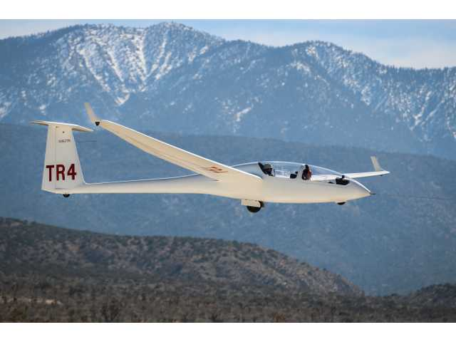 Full scale glider to visit SCVi Charter School. Photo by Sydney Croasmun