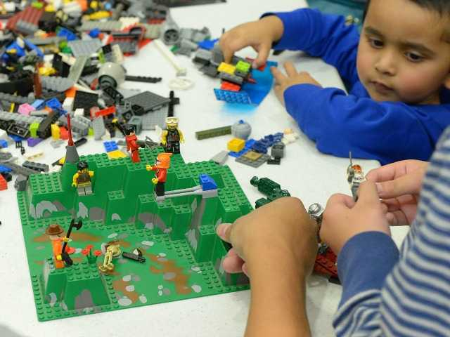 Is it a duck? Is it a plane? Well, yes, as kids build all with Legos