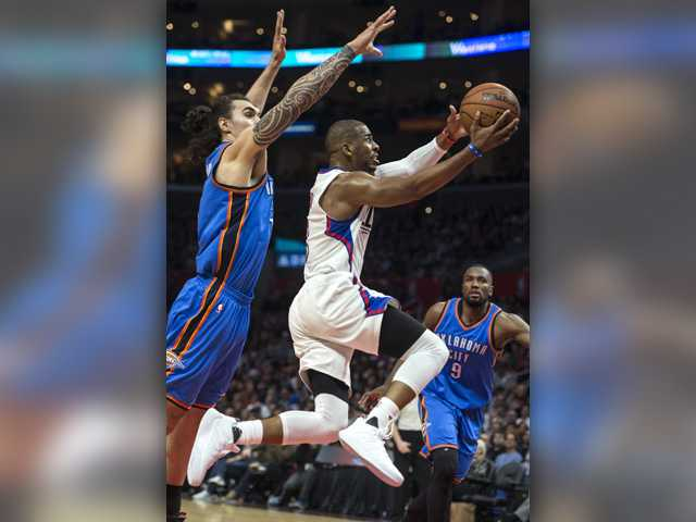 Clippers rally from 22 down to beat Thunder
