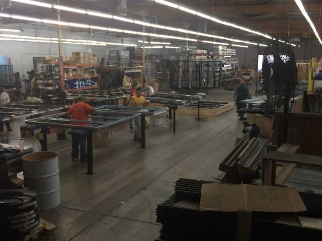 The frame department at CDS Doors current facility in San Fernando. & Refrigerated Door Company Relocates to Santa Clarita